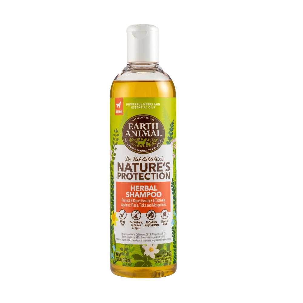 Earth Animal Nature's Protection Flea & Tick Prevention Herbal Shampoo for Dogs, 12-oz