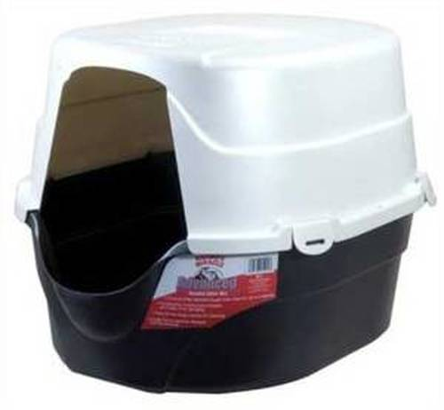 Nature's Miracle Oval Hooded Cat Litter Box, Black (Size: Black) Image