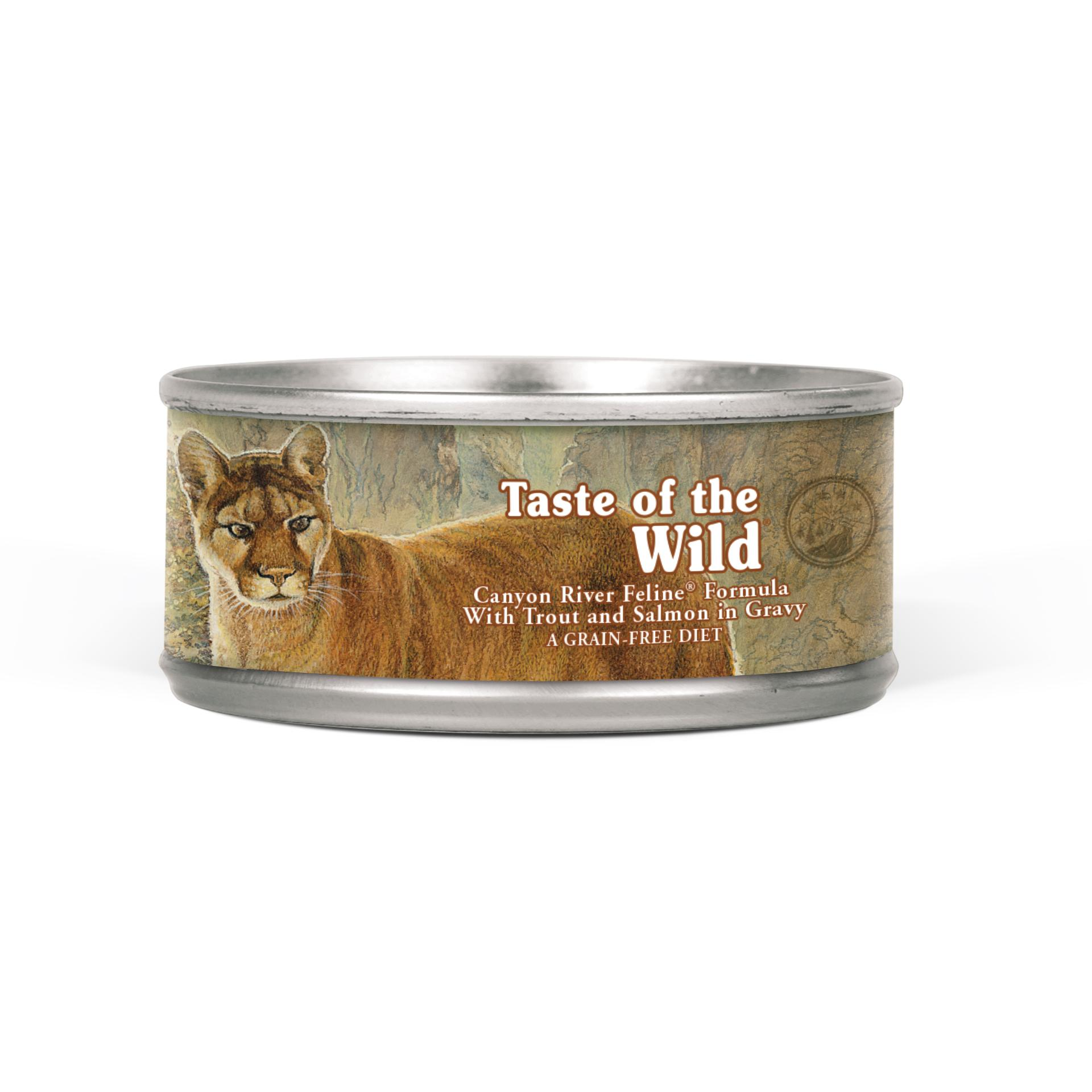 Taste of the Wild Canyon River Grain-Free Canned Cat Food, 5.5-oz, case of 24