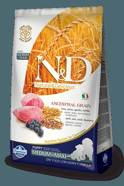 Farmina N&D Ancestral Grain Lamb & Blueberry Puppy Medium & Maxi Dog Dry Food Image