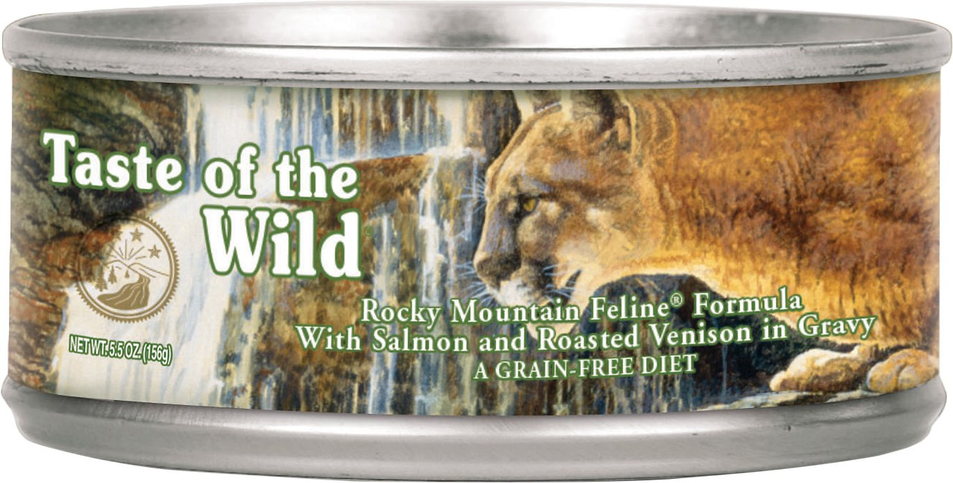 Taste of the Wild Rocky Mountain Grain-Free Canned Cat Food, 3-oz