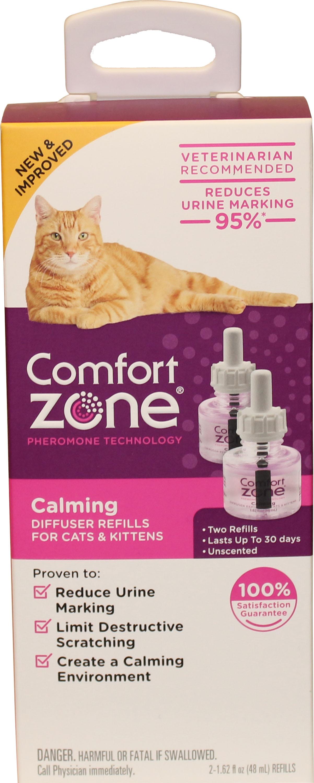 Comfort Zone Calming Diffuser Refills for Cats, 2-pk