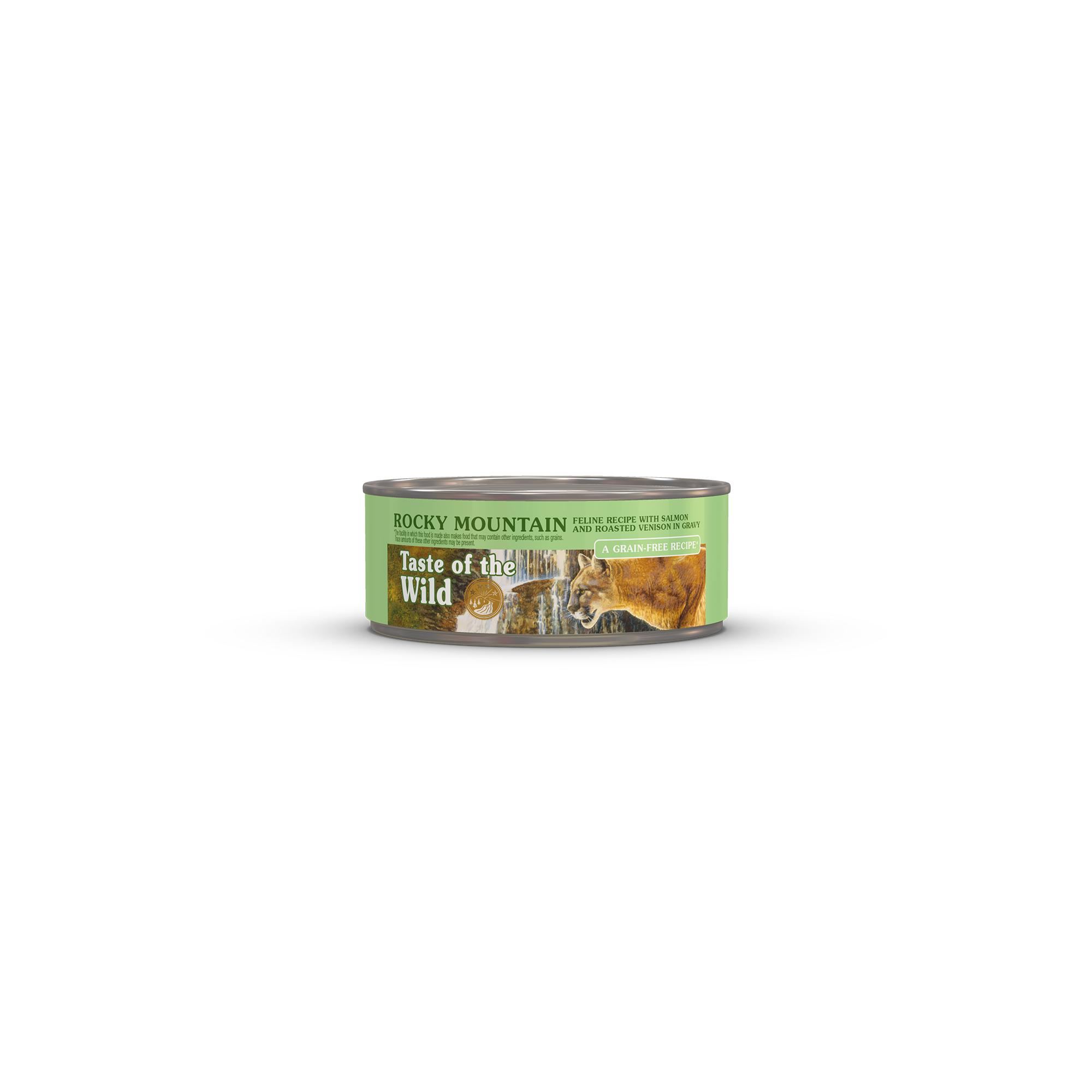 Taste of the Wild Rocky Mountain Grain-Free Canned Cat Food, 5.5-oz, case of 24