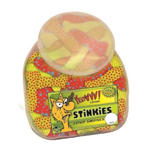 Yeowww! Stinkies Catnip Sardines Cat Toy, 51-count