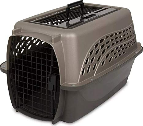 Petmate Two Door Top Load Pet Kennel, Medium Tan (Size: Medium Tan) Image