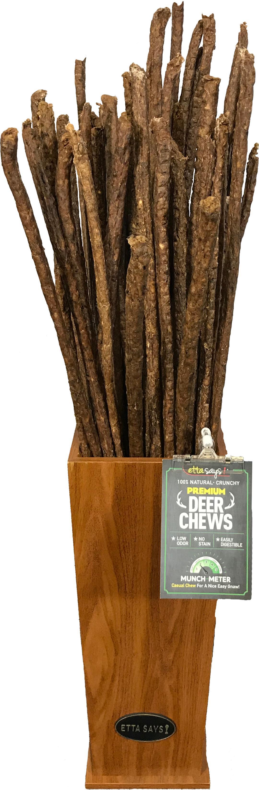Etta Says! 3' Crunchy Deer Chew Stick Dog Treats, 1-count