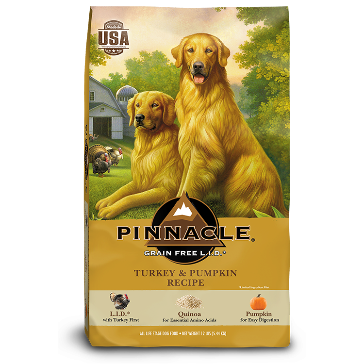 Pinnacle Turkey & Pumpkin Recipe Limited Ingredient Grain-Free Dry Dog Food, 24-lb