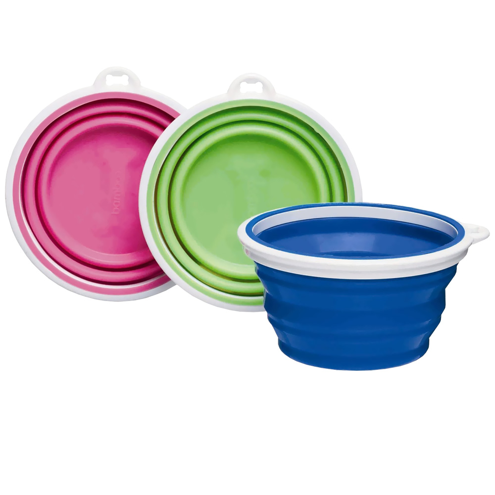 Bamboo Silicone Travel Bowl for Dogs, 1-cup