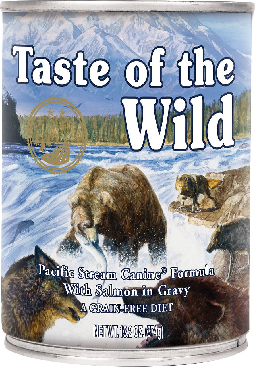 Taste of the Wild Pacific Stream Grain-Free Canned Dog Food, 13.2-oz