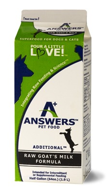 Answers Additional Raw Goat's Milk for Cats & Dogs, 64-oz
