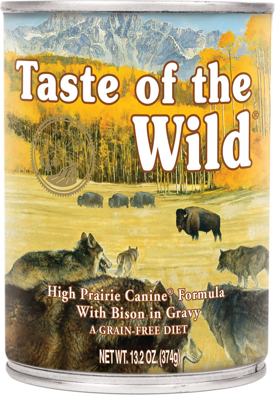 Taste of the Wild High Prairie Grain-Free Canned Dog Food, 13.2-oz