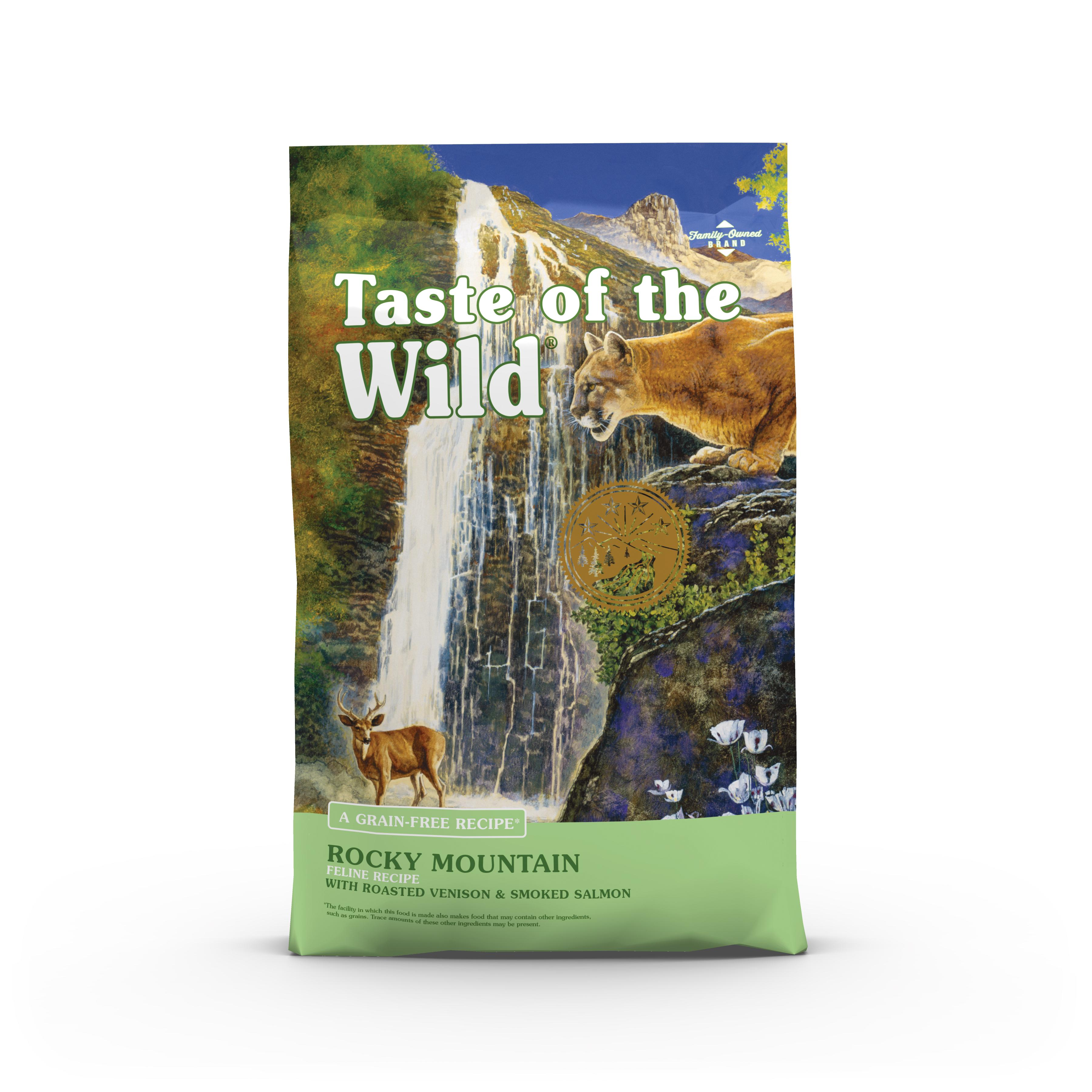 Taste of the Wild Rocky Mountain Grain-Free Dry Cat Food, 5-lb