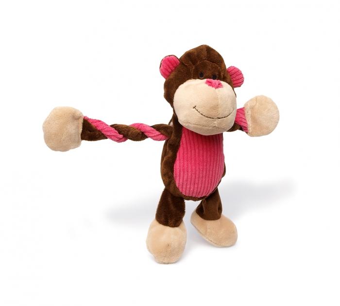 Charming Pet Pulleez Monkey Dog Toy, X-Small