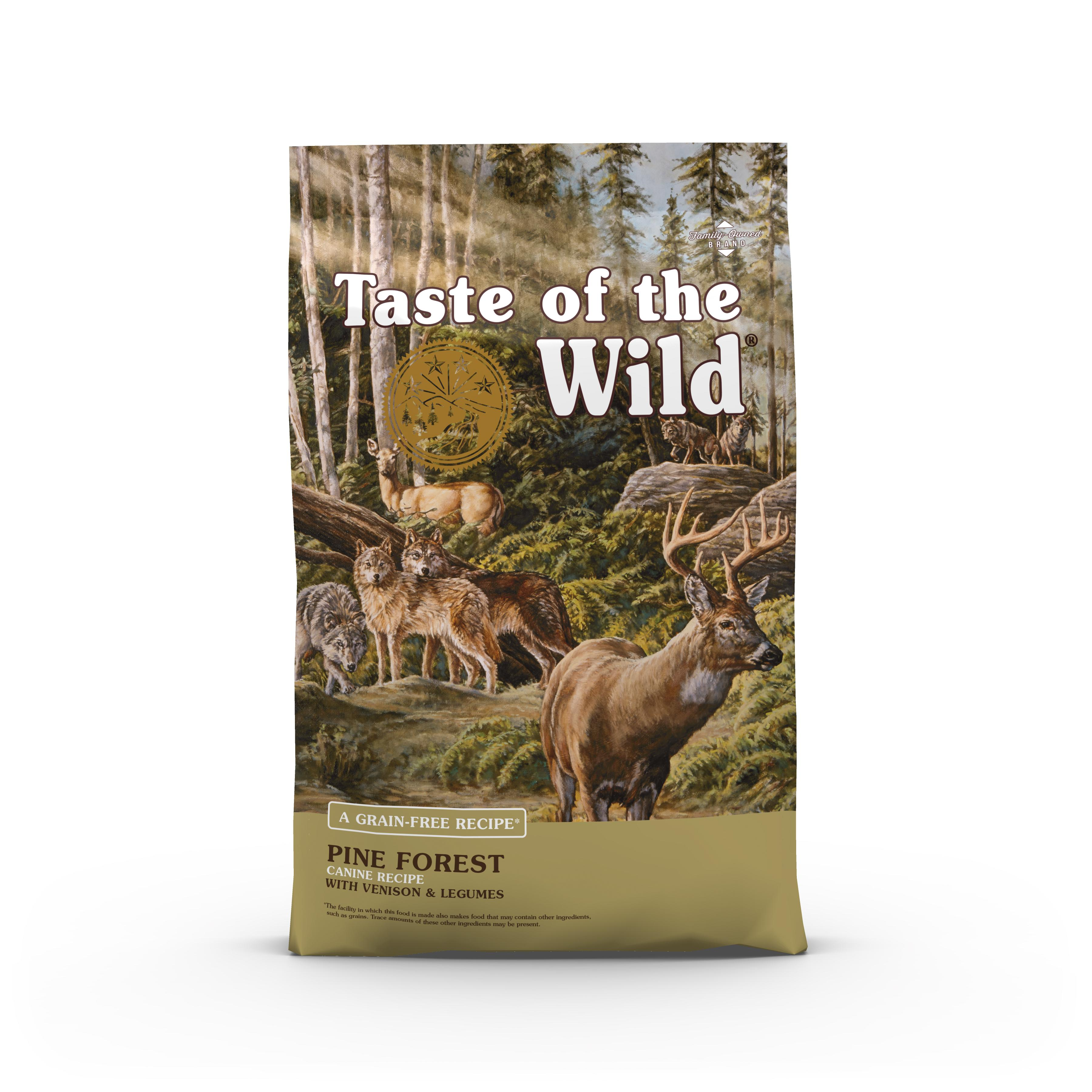 Taste of the Wild Pine Forest Grain-Free Dry Dog Food, 5-lb