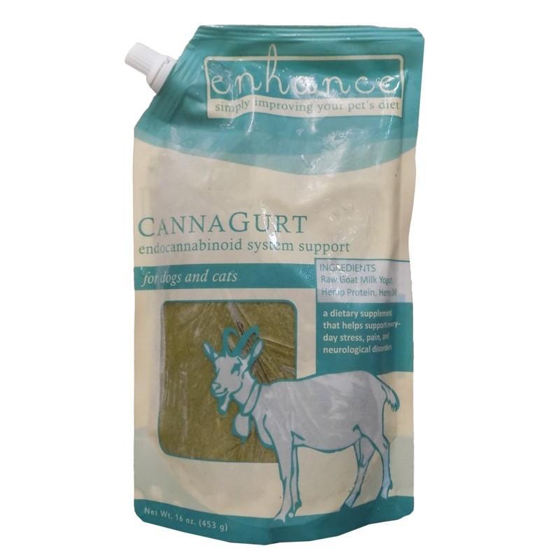 Steve's Enhance Cannagurt Frozen Raw Goat Milk Yogurt for Dogs & Cats, 16-oz