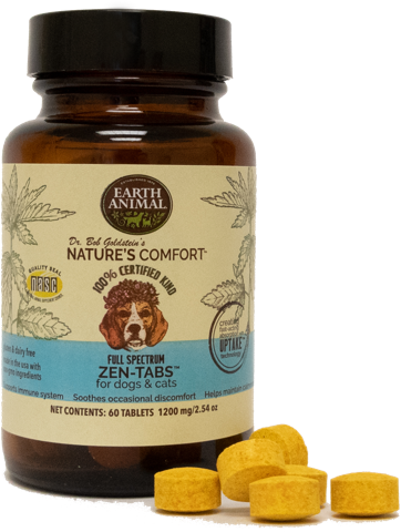 Earth Animal Nature's Comfort Full-Spectrum 1200mg Zen-Tabs for Dogs & Cats, 60-pack