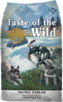 Taste of the Wild Pacific Stream Puppy Formula Grain-Free Dry Dog Food, 15-lb