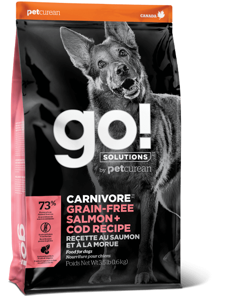 Petcurean Dog Go! Carnivore Grain-Free Salmon + Cod Dry Dog Food, 3.5-lb