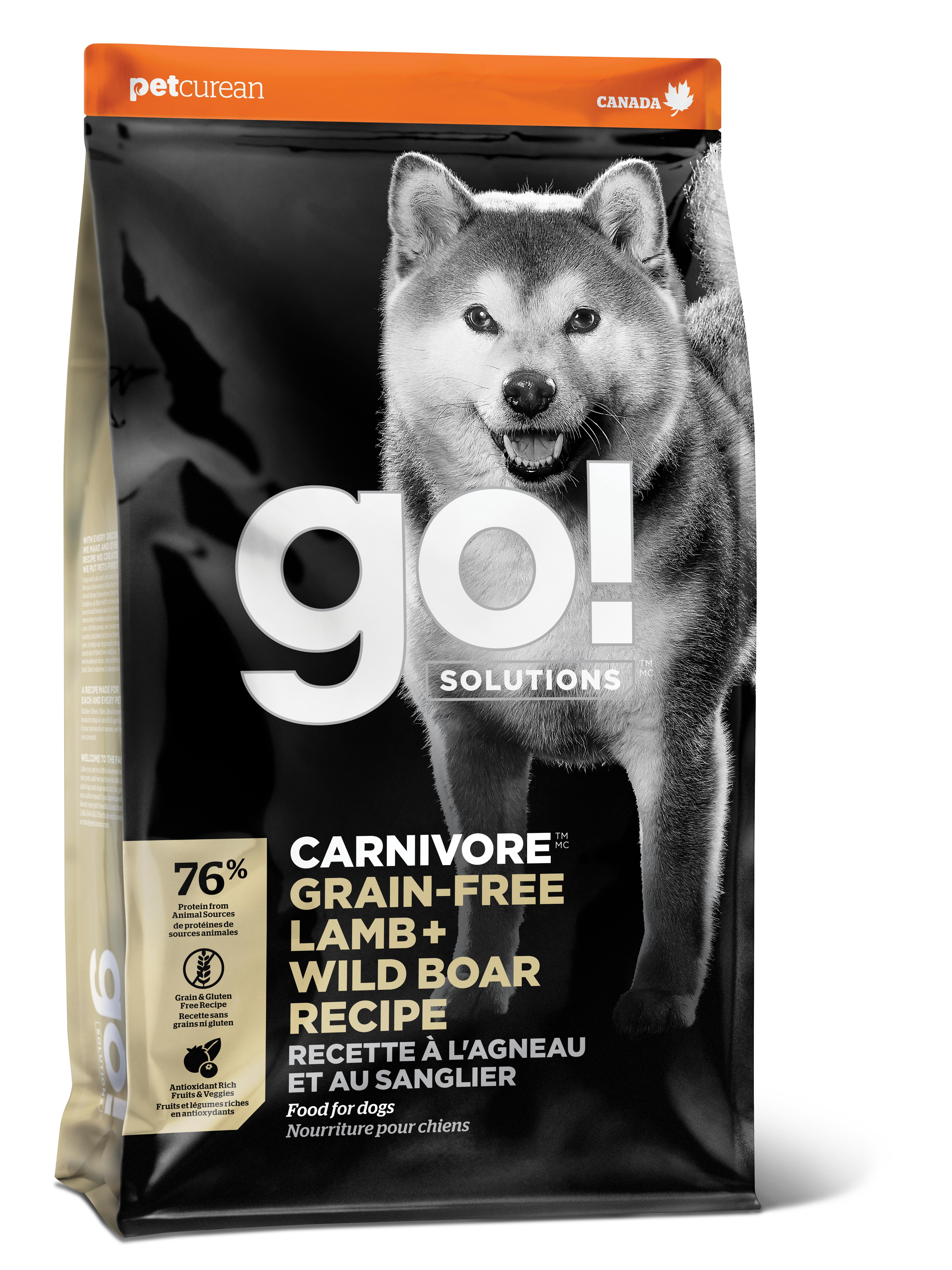 Go! Solutions Carnivore Lamb + Wild Boar Grain-Free Dry Dog Food, 3.5-lb