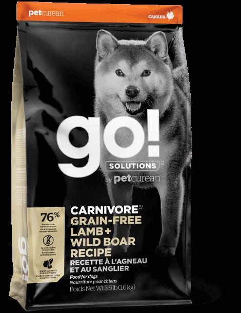 Petcurean Dog Go! Carnivore Grain-Free Lamb + Wild Boar Dry Dog Food, 22-lb