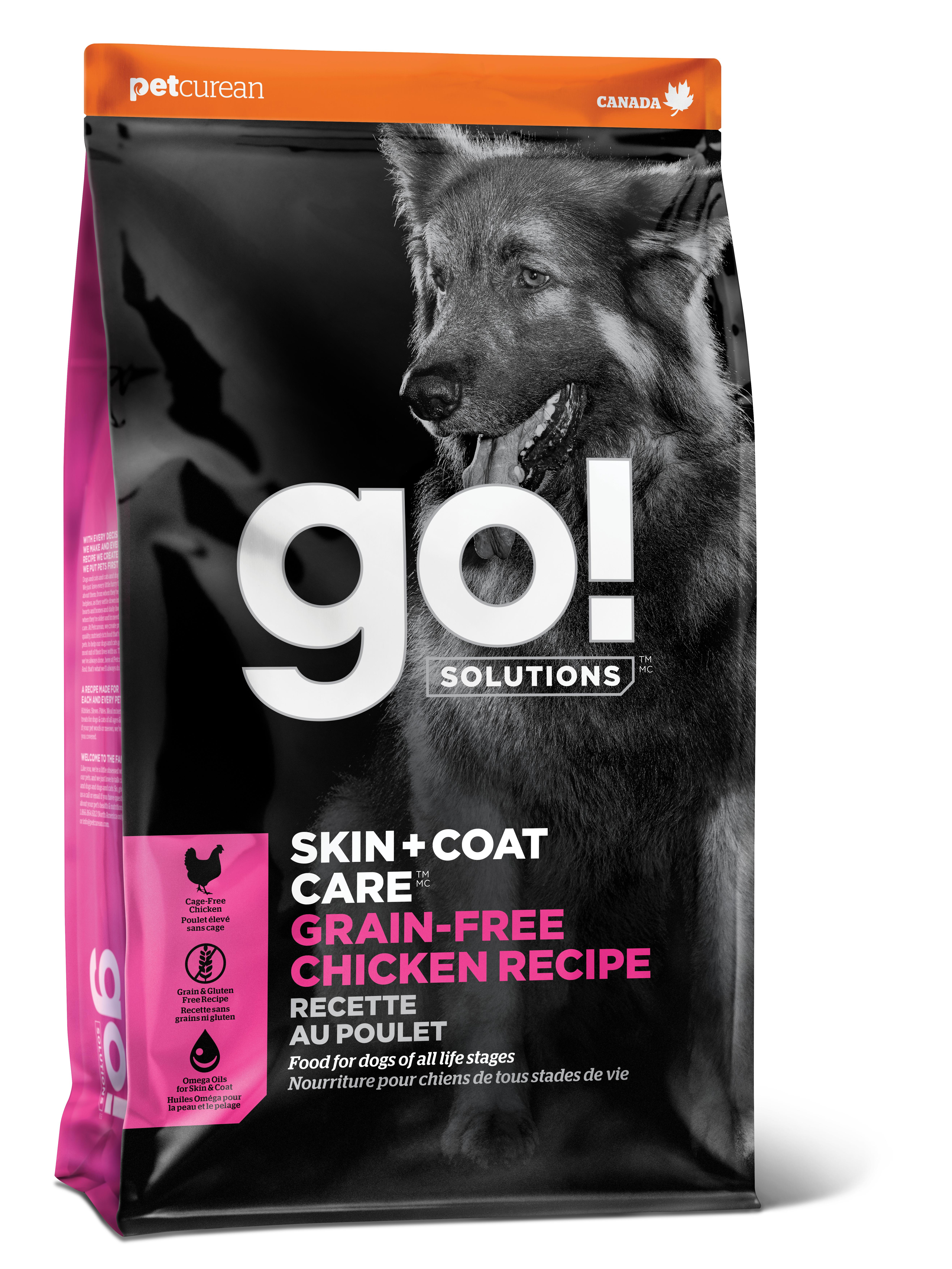 Go! Solutions Skin + Coat Care Chicken Grain-Free Dry Dog Food, 25-lb