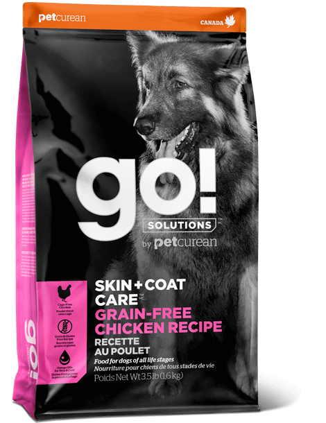 Petcurean Dog Go! Solutions Skin + Coat Care Grain-Free Chicken Dry Dog Food, 25-lb