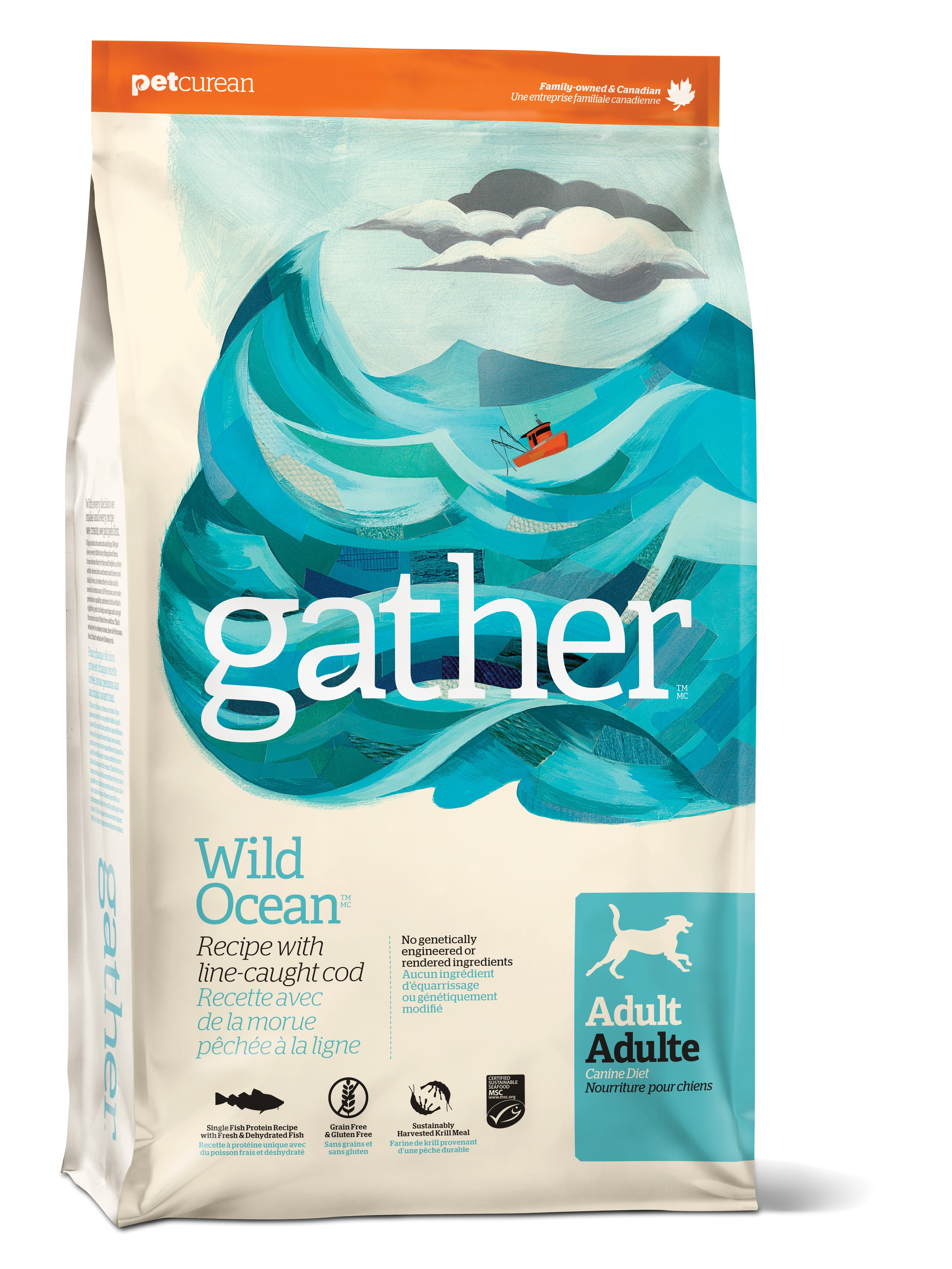 Gather Wild Ocean Adult Dry Dog Food, 16-lb