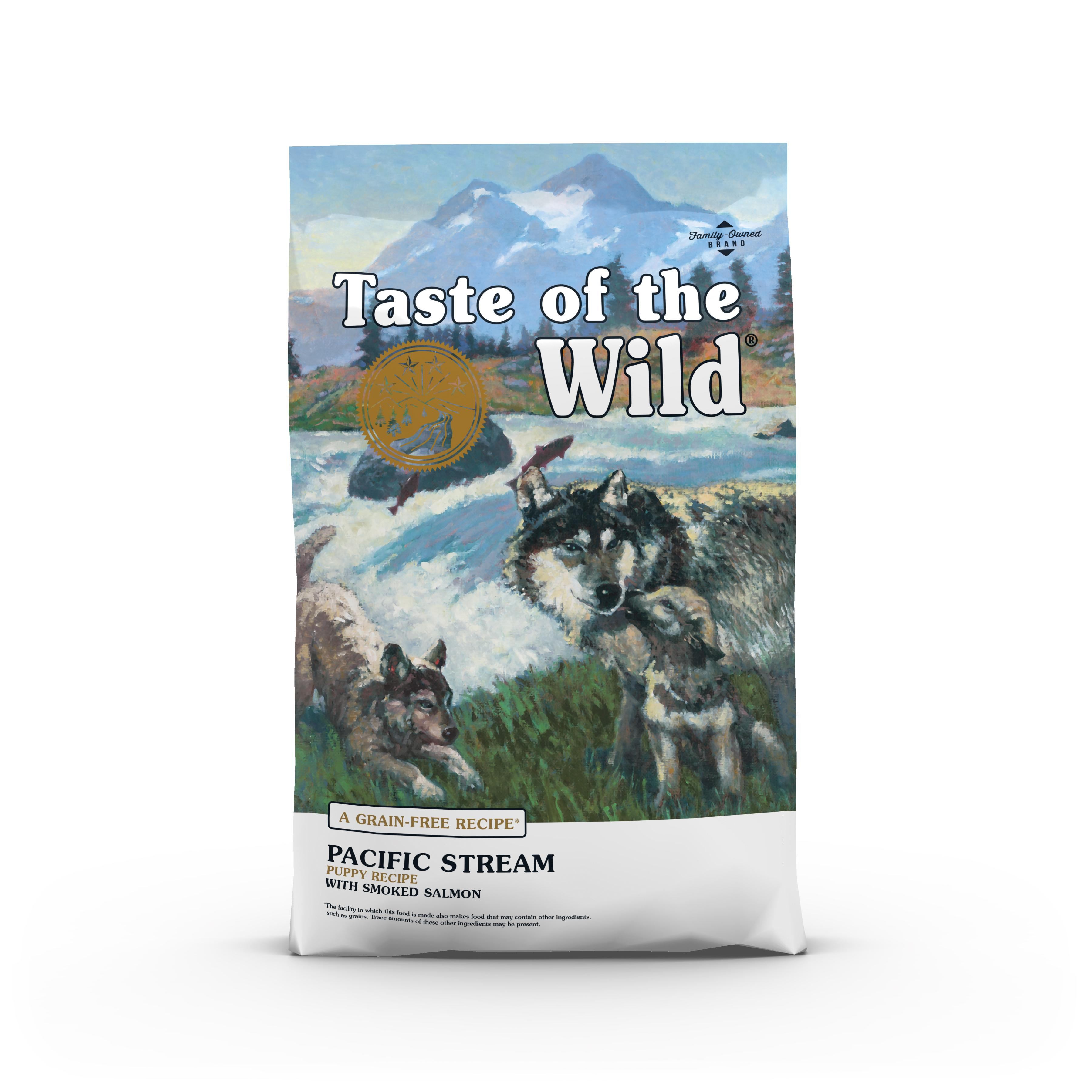 Taste of the Wild Pacific Stream Puppy Formula Grain-Free Dry Dog Food, 5-lb