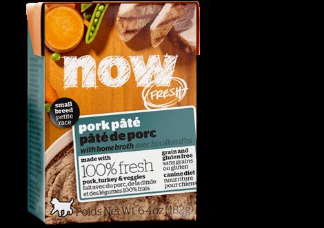 Now Fresh Small Breed Grain-Free Pork Pâte with Bone Broth Gravy Tetra Pak Wet Dog Food, 6.4-oz (Size: 6.4-oz) Image