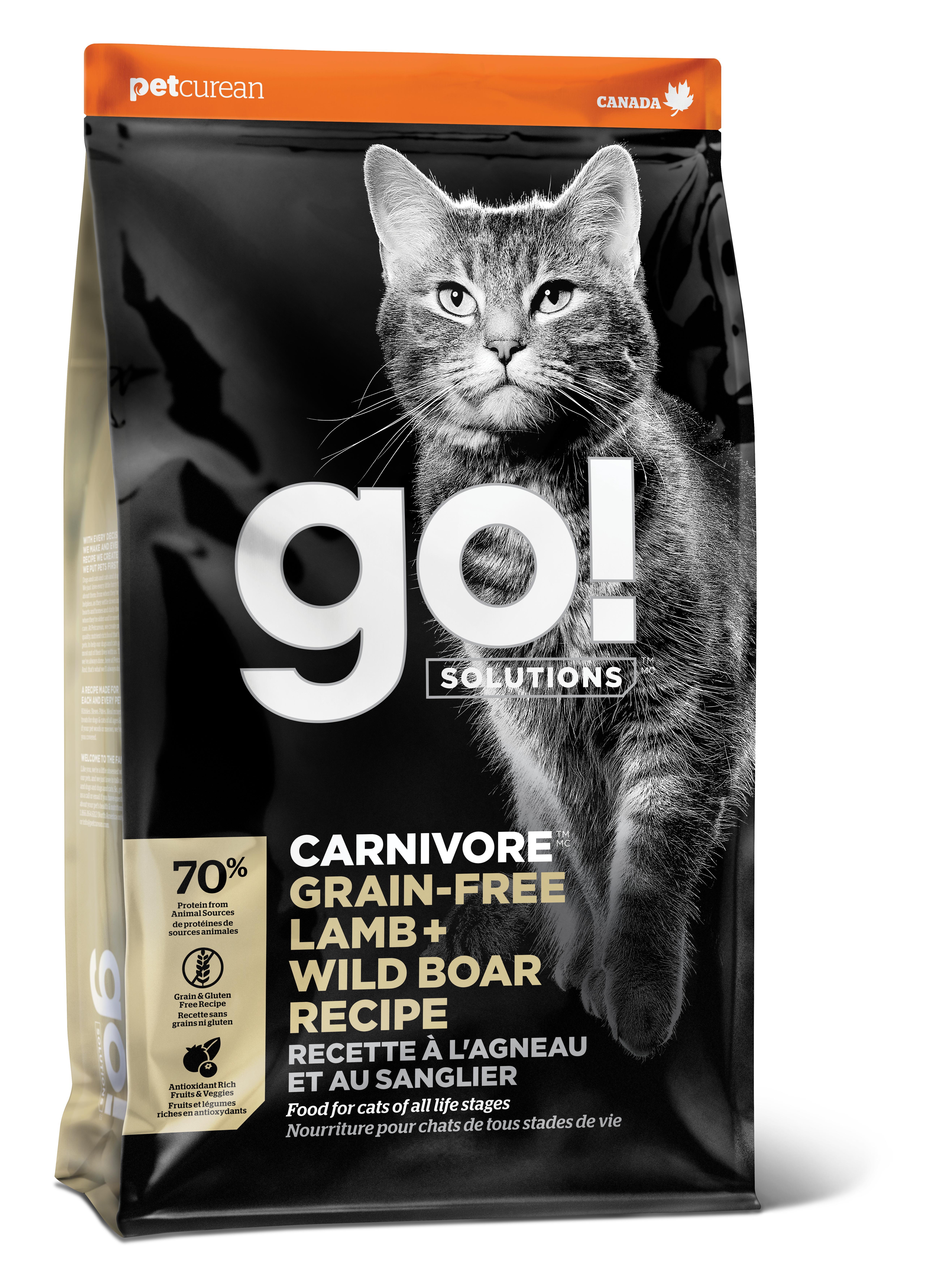 Go! Solutions Carnivore Lamb + Wild Boar Grain-Free Dry Cat Food Image