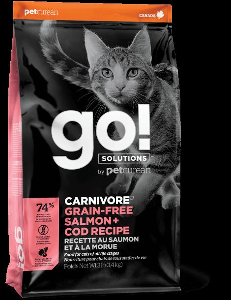 Go! Carnivore Grain-Free Salmon + Cod Dry Cat Food, 3-lb