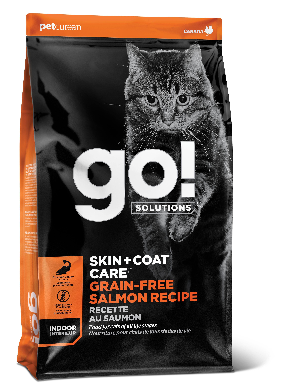 Go! Solutions Skin + Coat Care Salmon Grain-Free Dry Cat Food, 16-lb