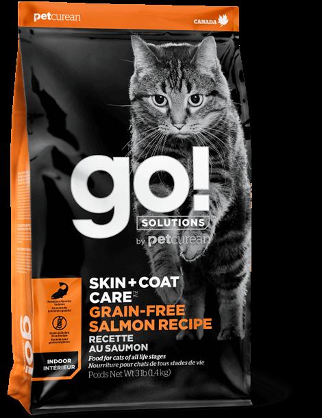 Go! Solutions Skin + Coat Care Grain-Free Salmon Dry Cat Food, 3-lb