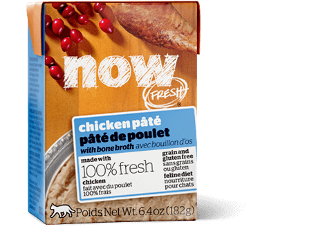 NOW FRESH Grain-Free Chicken Pate with Bone Broth Tetra Pak Wet Cat Food, 6.4-oz
