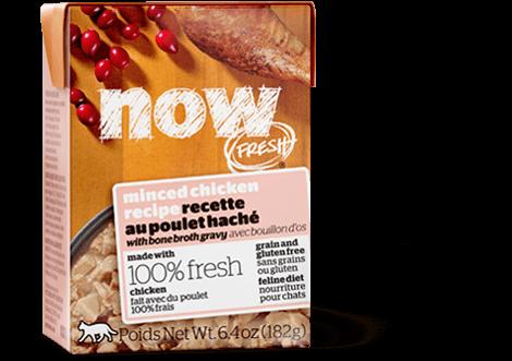 Petcurean Cat Now Fresh Grain-Free Minced Chicken with Bone Broth Gravy Tetra Pak Wet Cat Food, 6.4-oz