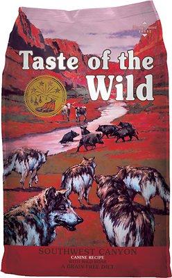 Taste of the Wild Southwest Canyon Grain-Free Dry Dog Food, 14-lb