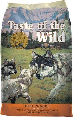 Taste of the Wild High Prairie Puppy Formula Grain-Free Dry Dog Food, 30-lb