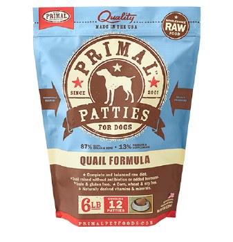 Primal Raw Frozen Nuggets Quail Formula Dog Food, 6-lb