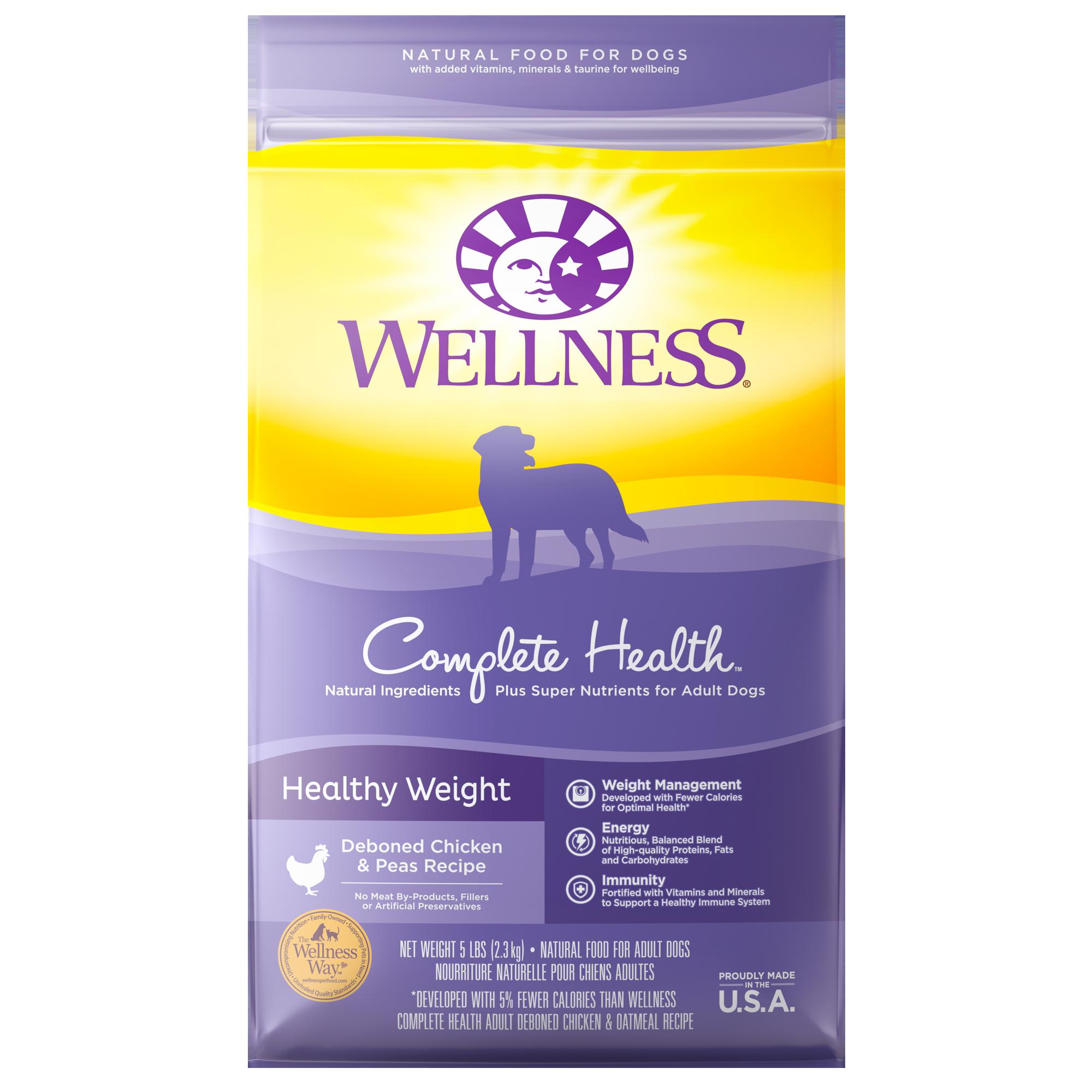 Wellness Complete Health Healthy Weight Deboned Chicken & Peas Recipe Dry Dog Food, 5-lb