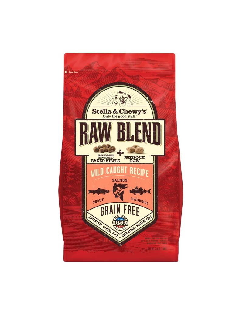 Stella & Chewy's Raw Blend Wild Caught Recipe Grain-Free Dry Dog Food, 22-lb