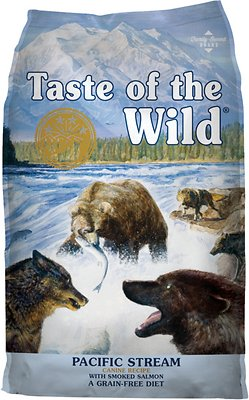 Taste of the Wild Pacific Stream Grain-Free Dry Dog Food, 15-lb