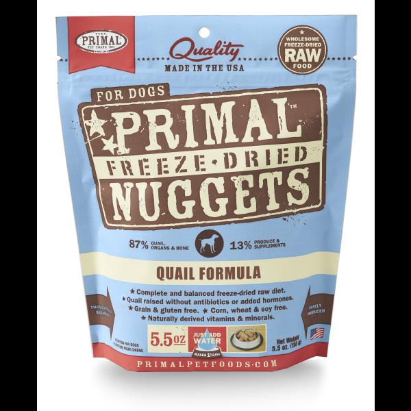 Primal Freeze-Dried Nuggets Quail Formula Dog Food, 5.5 oz