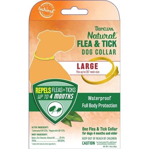 TropiClean Natural Flea & Tick Large Dog Collar