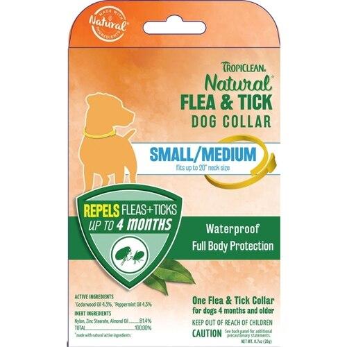 TropiClean Natural Flea & Tick Small/Medium Dog Collar