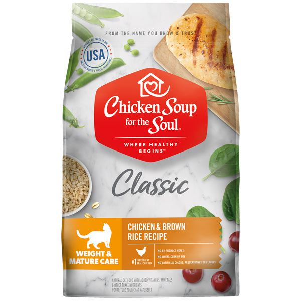 Chicken Soup for the Soul Weight & Mature Care Dry Cat Food, 13.5-lb