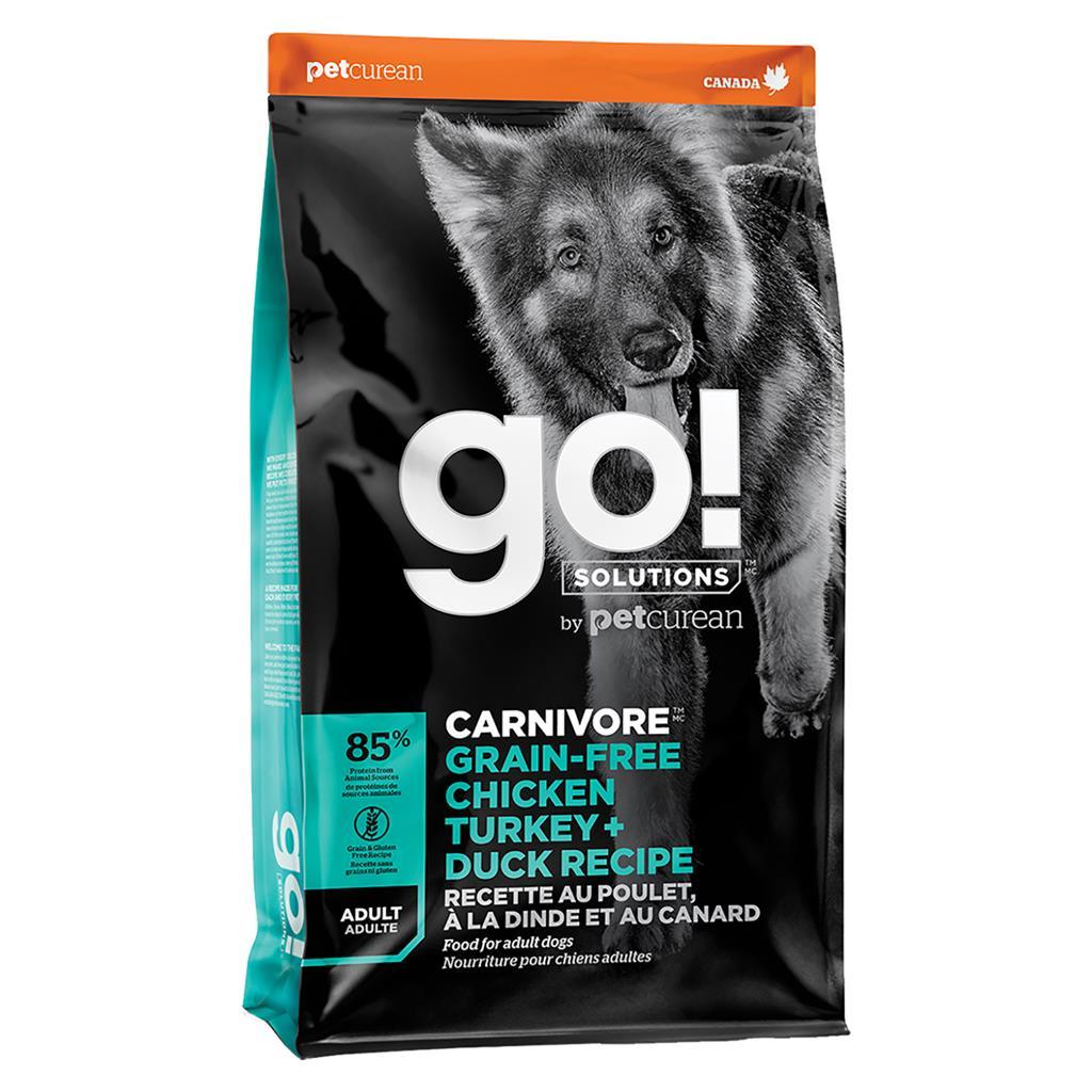 Go! Carnivore Grain-Free Chicken Turkey + Duck Dry Dog Food Image