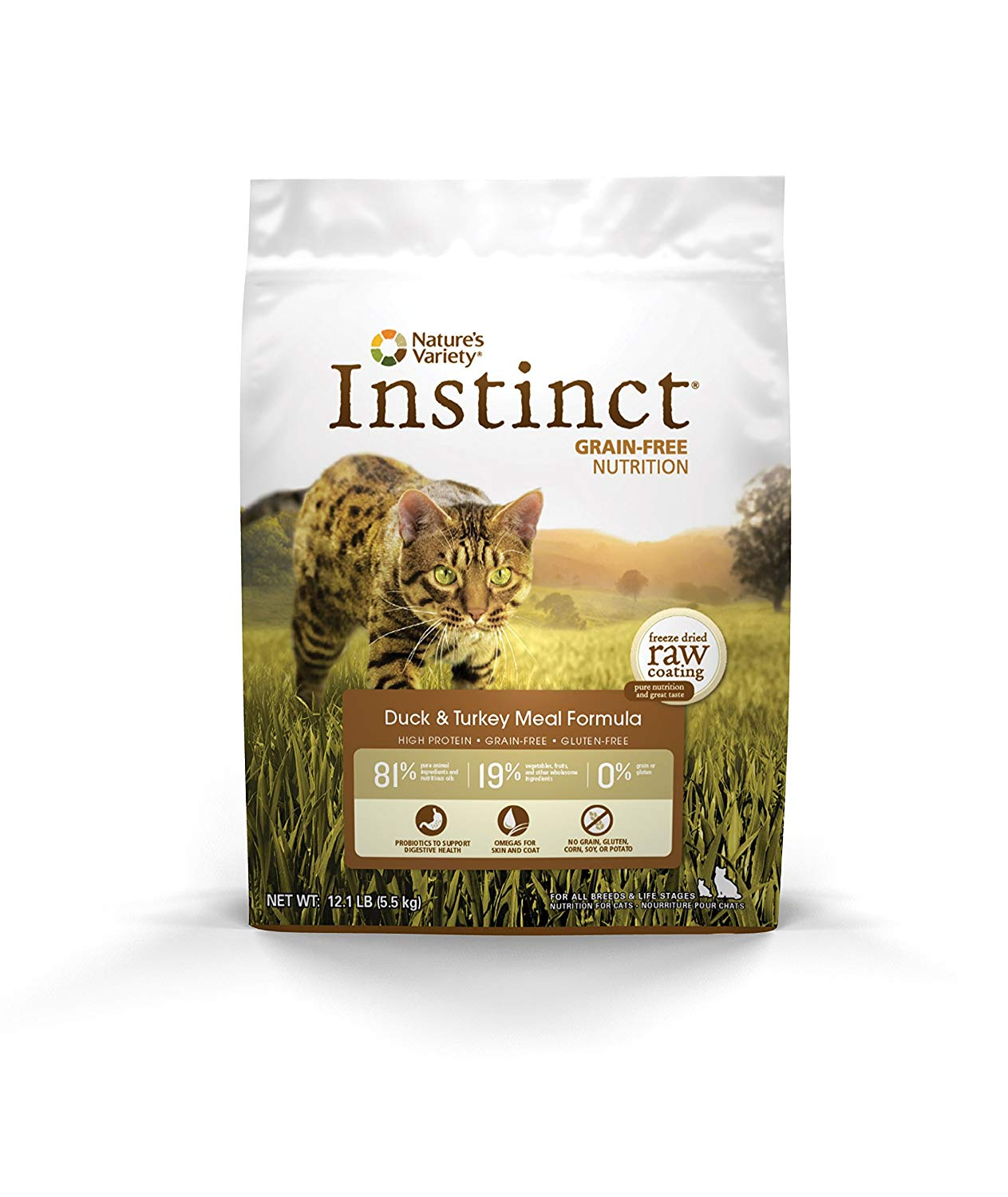 Instinct by Nature's Variety Grain-Free Duck & Turkey Meal Formula Dry Cat Food, 5.5-lb (Size: 5.5-lb) Image