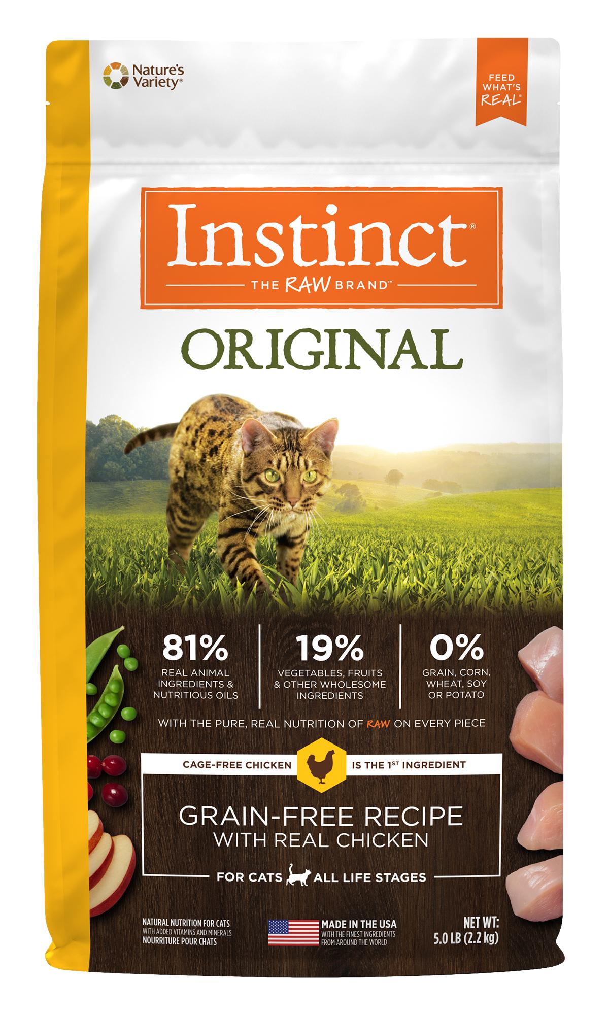 Instinct by Nature's Variety Original Grain-Free Recipe Natural Dry Cat Food, 2.2-lb