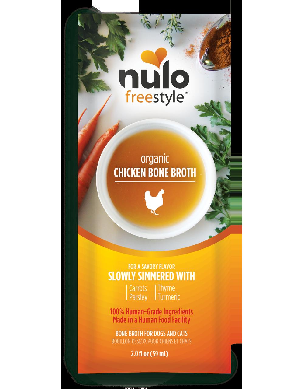 Nulo Freestyle Bone Broth Organic Chicken Dog & Cat Food Topper, 2-oz