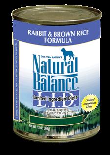 Natural Balance L.I.D. Limited Ingredient Diets Rabbit & Brown Rice Formula Wet Dog Food Image